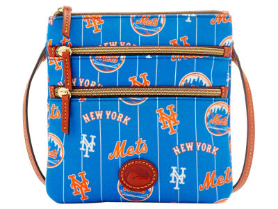 New York Mets Dooney & Bourke Nylon Triple Zip Crossbody