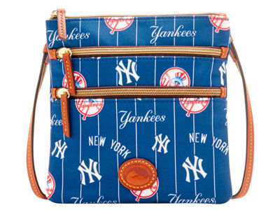 New York Yankees Dooney & Bourke Nylon Triple Zip Crossbody