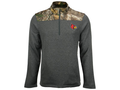 Louisville Cardinals NCAA Men's Realtree Timber 1/2 Zip Jacket