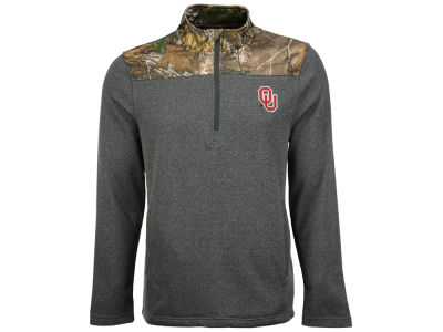 Oklahoma Sooners NCAA Men's Realtree Timber 1/2 Zip Jacket