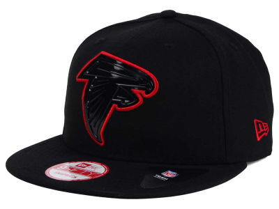Atlanta Falcons New Era NFL Black Bevel 9FIFTY Snapback Cap