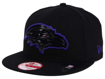Baltimore Ravens New Era NFL Black Bevel 9FIFTY Snapback Cap