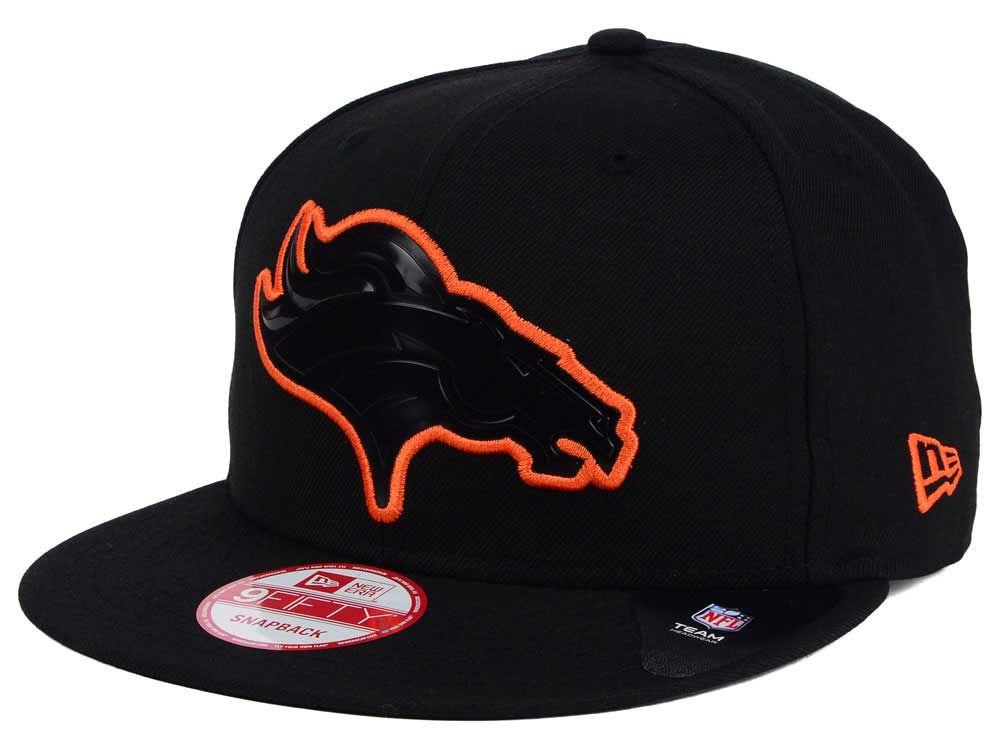 26011f7ef89 Denver Broncos New Era NFL Black Bevel 9FIFTY Snapback Cap