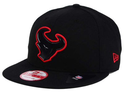 Houston Texans New Era NFL Black Bevel 9FIFTY Snapback Cap