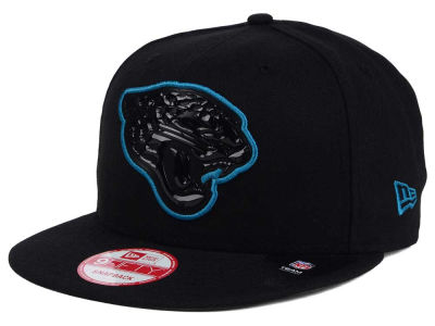 Jacksonville Jaguars New Era NFL Black Bevel 9FIFTY Snapback Cap