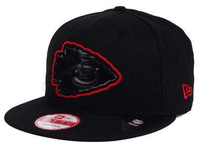 Kansas City Chiefs New Era NFL Black Bevel 9FIFTY Snapback Cap