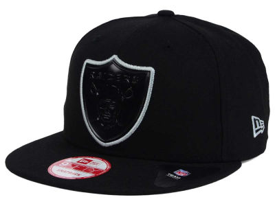 Oakland Raiders New Era NFL Black Bevel 9FIFTY Snapback Cap