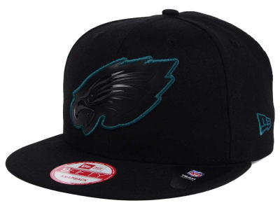 Philadelphia Eagles New Era NFL Black Bevel 9FIFTY Snapback Cap