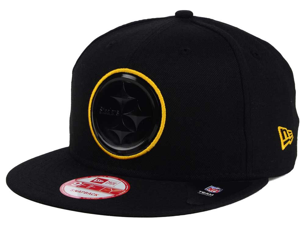 35af4b0f993 Pittsburgh Steelers New Era NFL Black Bevel 9FIFTY Snapback Cap ...