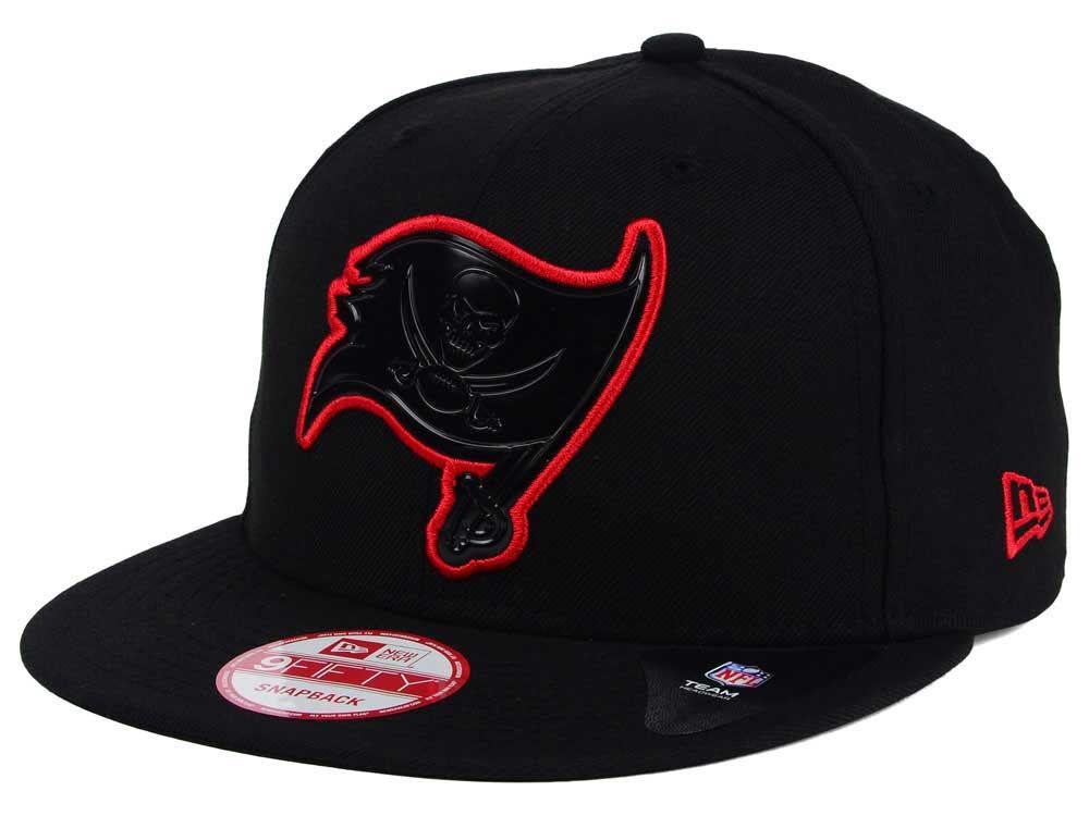 Tampa Bay Buccaneers New Era NFL Black Bevel 9FIFTY Snapback Cap ... 59b1ecc22