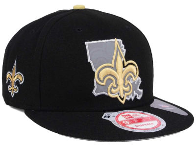 New Orleans Saints New Era NFL TC State Flec 9FIFTY Snapback Cap