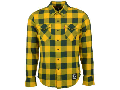 Green Bay Packers NFL Plaid Barstow Western Top