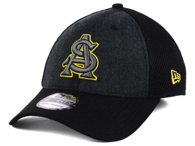 Arizona State Sun Devils New Era NCAA Heather Black Neo 39THIRTY Cap