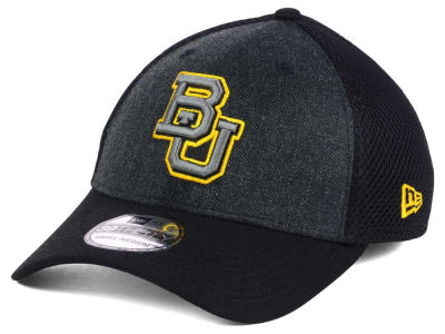 Baylor Bears New Era NCAA Heather Black Neo 39THIRTY Cap