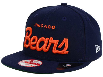 Chicago Bears New Era NFL LIDS 20th Anniversary Script 9FIFTY Snapback Cap