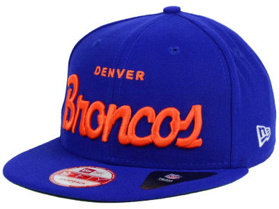 Denver Broncos New Era NFL LIDS 20th Anniversary Script 9FIFTY Snapback Cap
