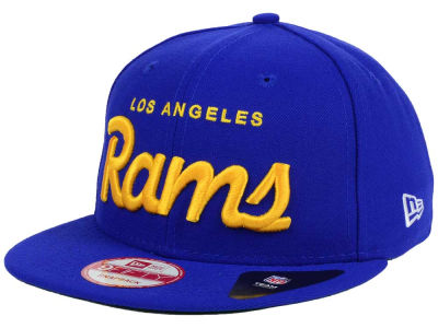 Los Angeles Rams New Era NFL LIDS 20th Anniversary Script 9FIFTY Snapback Cap