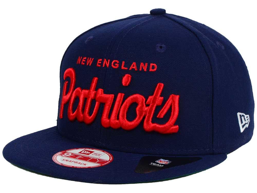 New England Patriots New Era NFL Retro Script 9FIFTY Snapback Cap ... 716954a535a