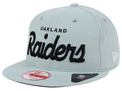 Oakland Raiders New Era NFL LIDS 20th Anniversary Script 9FIFTY Snapback Cap