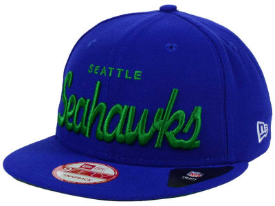 Seattle Seahawks New Era NFL LIDS 20th Anniversary Script 9FIFTY Snapback Cap