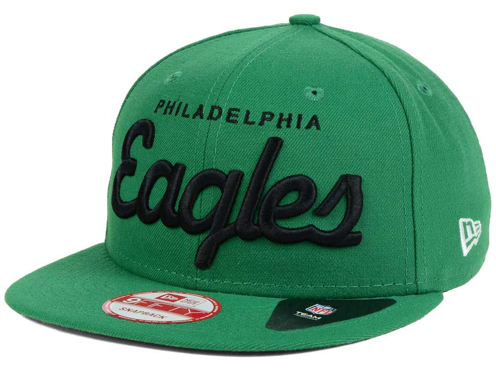 e6d32372671 Philadelphia Eagles New Era NFL Retro Script 9FIFTY Snapback Cap ...