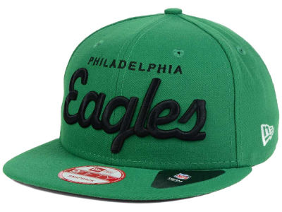Philadelphia Eagles New Era NFL LIDS 20th Anniversary Script 9FIFTY Snapback Cap