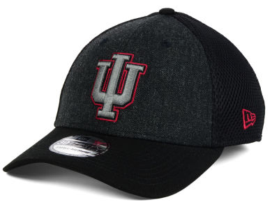 Indiana Hoosiers New Era NCAA Heather Black Neo 39THIRTY Cap
