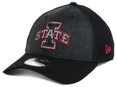 Iowa State Cyclones New Era NCAA Heather Black Neo 39THIRTY Cap