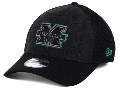 Marshall Thundering Herd New Era NCAA Heather Black Neo 39THIRTY Cap