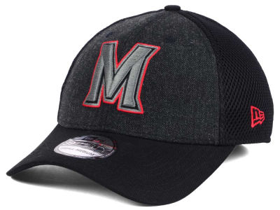 Maryland Terrapins New Era NCAA Heather Black Neo 39THIRTY Cap