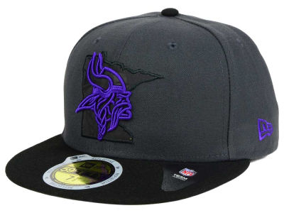 Minnesota Vikings New Era NFL State Flective 3.0 59FIFTY Cap