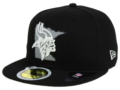 Minnesota Vikings New Era NFL State Flective Redux 59FIFTY Cap