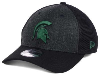 Michigan State Spartans New Era NCAA Heather Black Neo 39THIRTY Cap