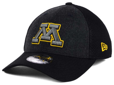 Minnesota Golden Gophers New Era NCAA Heather Black Neo 39THIRTY Cap