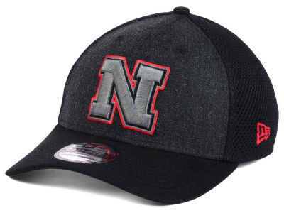 Nebraska Cornhuskers New Era NCAA Heather Black Neo 39THIRTY Cap