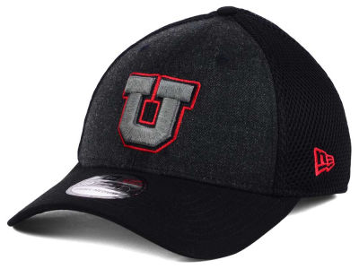 Utah Utes New Era NCAA Heather Black Neo 39THIRTY Cap