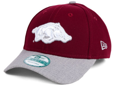 Arkansas Razorbacks New Era NCAA Heathered 9FORTY Cap