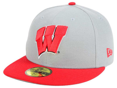Wisconsin Badgers New Era NCAA Grayson 59FIFTY Cap