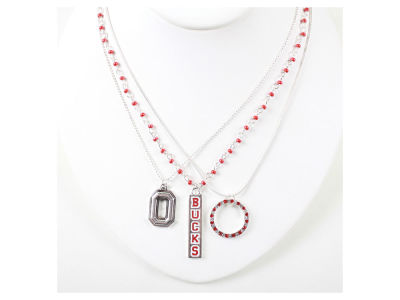 Ohio State Buckeyes Trio Necklace Set