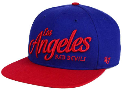 Los Angeles Red Devils '47 Black Fives Team '47 CAPTAIN Cap