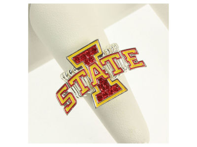 Iowa State Cyclones Crystal Logo Ring