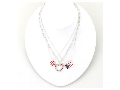 Ohio State Buckeyes State Trio Necklace