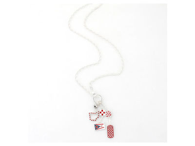 Ohio State Buckeyes State Cluster Necklace