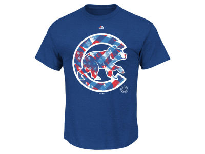 Chicago Cubs MLB Men's Spirited Stripes T-Shirt