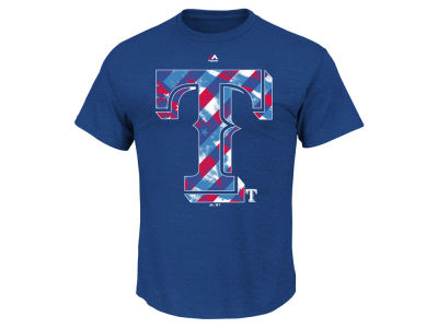 Texas Rangers MLB Men's Spirited Stripes T-Shirt