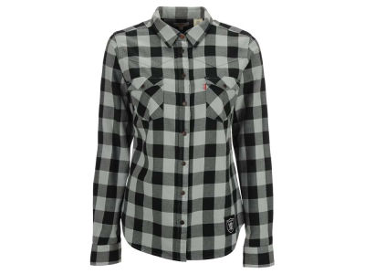 Oakland Raiders NFL Women's Plaid Button Up Woven Shirt