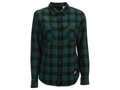 Philadelphia Eagles NFL Women's Plaid Button Up Woven Shirt