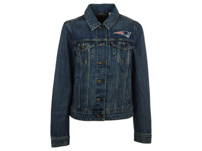 New England Patriots NFL Women's Denim Trucker Jacket