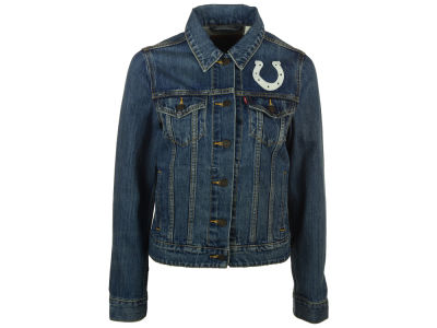 Indianapolis Colts NFL Women's Denim Trucker Jacket