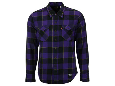 Baltimore Ravens NFL Plaid Barstow Western Top